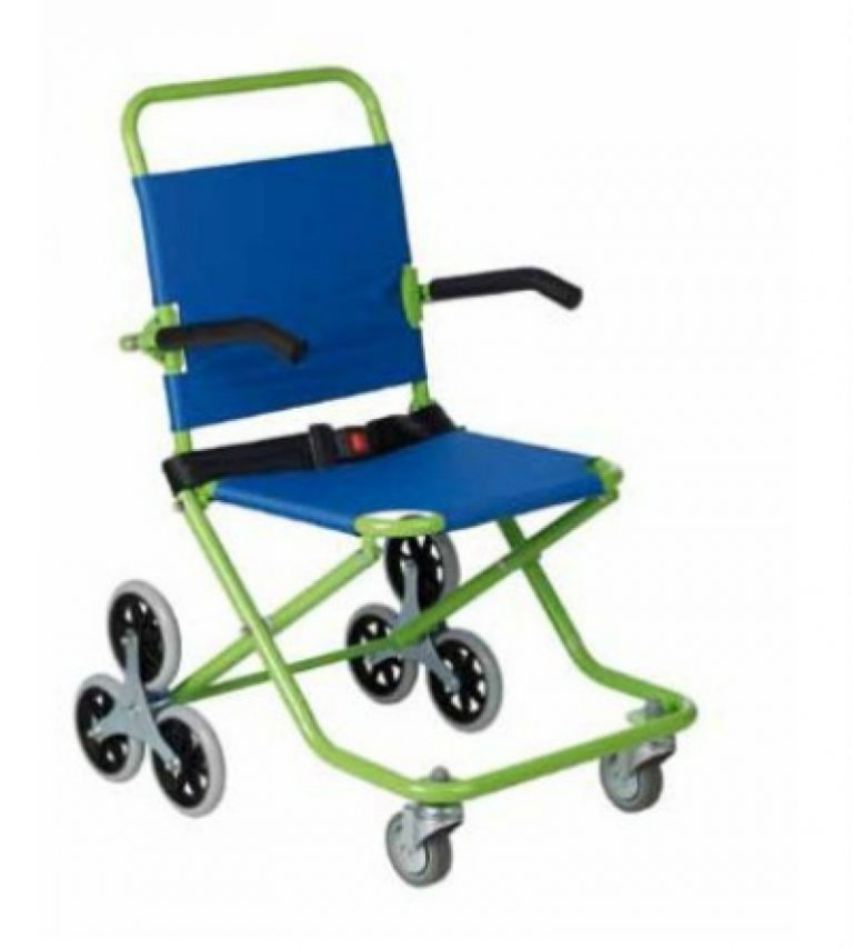 Silla plegable para evacuaciones roll over ortopedia plaza for Sillas para subir escaleras precios